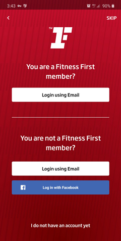 Login using your Email or your Facebook account. Fill in the necessary information and register